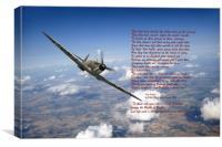 "Battle of Britain Spitfire ""Per Ardua"", Canvas Print"