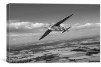 Spitfire TR 9 on a roll, B&W version, Canvas Print