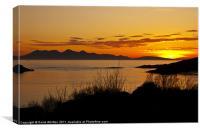 Isle of Rum Sunset, Canvas Print