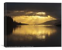 Loch Lochy Sunburst, Canvas Print