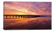 Tay Rail Bridge Dundee, Sunrise., Canvas Print
