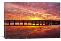Tay Rail Bridge Dundee Sunrise., Canvas Print