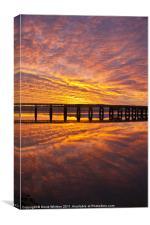 Tay Rail Bridge Dundee Sunrise., Canvas Print