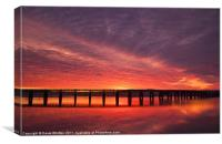 Dundee`s Tay Rail Bridge Sunrise., Canvas Print
