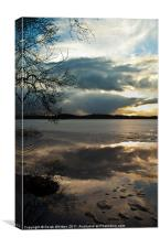 Lake of Menteith Sunset, Canvas Print