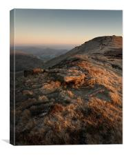 Winter Afternoon on Kinder, Canvas Print
