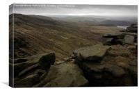 Rocks near Kinder Downfall, Canvas Print