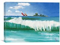 Island Resort, Canvas Print
