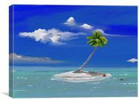 One palm Island, Canvas Print