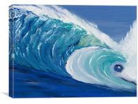 Fish Waves of Maldive Islands, Canvas Print