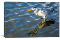 The crane, Canvas Print