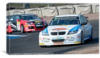 Racing at the Knockhill track, Canvas Print