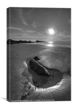 Culzean rock pool, Canvas Print