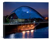 Science centre & pier, Canvas Print