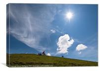 Monte Baldo sunburst Italy