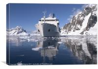 Akademik Ioffe at Petermann, Antarctica, Canvas Print