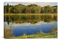 Autumn At Somes Pond, Maine, USA, Canvas Print