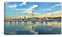 Marina at St. Augustine, Canvas Print