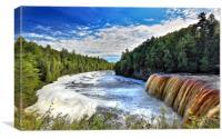 Tahquamenon Falls in Michigan, Canvas Print