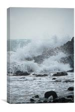 stormy water, Canvas Print