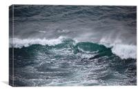 breaking waves, Canvas Print