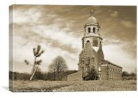 Sapling and chapel, Canvas Print