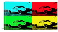 TR7 in four colours, Canvas Print
