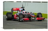 F1-JENSON BUTTON - SPAIN 2010, Canvas Print