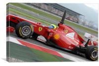 Felipe Massa - F1 Ferrari - Spain, Canvas Print