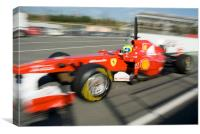 Felipe Massa - Catalunya - Spain 2011, Canvas Print