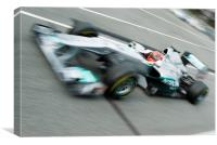 Michael Schumacher - Catalunya - 2011, Canvas Print