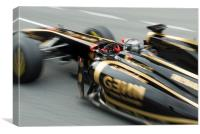 Robert Kubica - Lotus Renault - Spain, Canvas Print