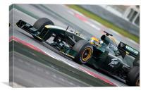 Heikki Kovalainen - Jarno Trulli - Lotus T128, Canvas Print