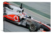 Jenson Button - Catalunya - Spain 2010, Canvas Print