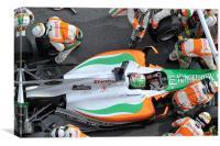 Vitantonio Liuzzi - Force India, Canvas Print