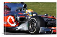 Lewis Hamilton - McLaren F1, Canvas Print