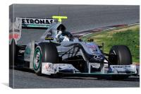 Michael Scumacher Mercedes GP Petronas, Canvas Print