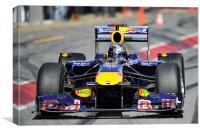 Sebastian Vettel  Redbull RB6, Canvas Print