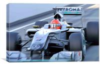 Michael Scumacher - Mercedes GP Petronas, Canvas Print