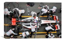 Jenson Button -Pitstop, Canvas Print