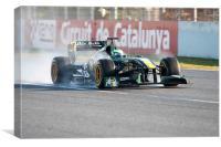 Heikki Kovalainen - Lotus T128, Canvas Print