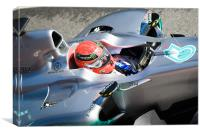 Michael Schmacher - Mercedes GP Petronas, Canvas Print