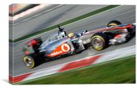 Lewis Hamilton McLaren F1, Canvas Print
