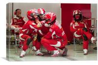 Ferrari Pit Crew, Canvas Print
