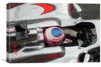 Jenson Button -, Canvas Print
