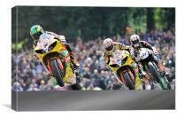 Tommy Hill, Michael Laverty, Shane Brne at Cadwell, Canvas Print