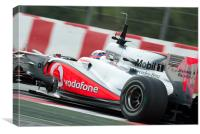 Jenson Button - McLaren Mercedes 2010, Canvas Print
