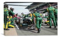 Heikki Kovalainen - Lotus F1 Racing 2011, Canvas Print