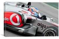 Jenson Button - McLaren F1 2010, Canvas Print