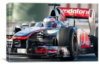 Jenson Button 2011 - Catalunya, Canvas Print